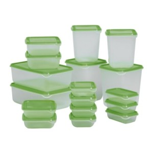 You do need storage containers for leftovers or taking lunch.