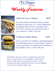 Weekly Features Aug 19 to 24, 2016