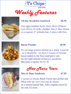 Weekly Features Aug 5 to 11, 2016