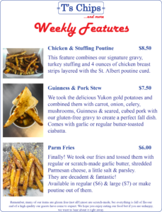 Weekly Features Oct 7 to 16, 2016
