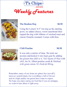Weekly Features Sept 16 to 22, 2016