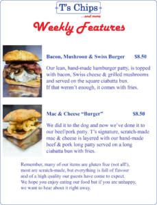 Weekly Features Sept 8 to 15, 2016